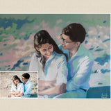 Personalized Oil Painting From Photos, handcraft art on Canvas-Show Case ADI101451-36