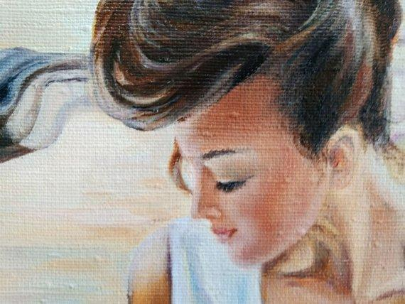Personalized Oil Painting From Photos, handcraft art on Canvas-Show Case PTA101785-24