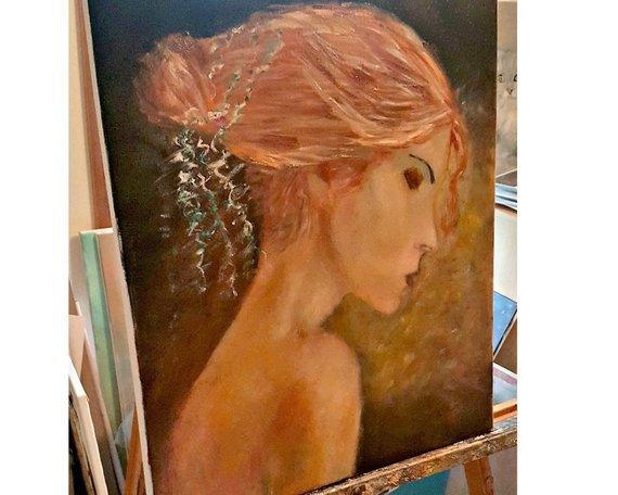 Personalized Oil Painting From Photos, handcraft art on Canvas-Show Case EDA102572-36