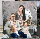Personalized Oil Painting From Photos, handcraft art on Canvas-Show Case IGH101774-24