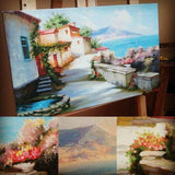 Personalized Oil Painting From Photos, handcraft art on Canvas-Show Case OCO101910-36