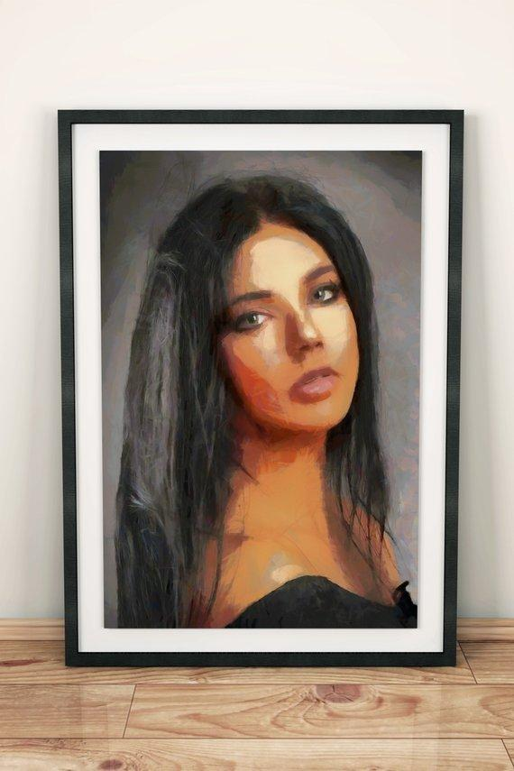 Personalized Oil Painting From Photos, handcraft art on Canvas-Show Case DAF102155-12