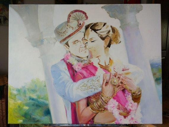 Personalized Oil Painting From Photos, handcraft art on Canvas-Show Case PPA102604-20