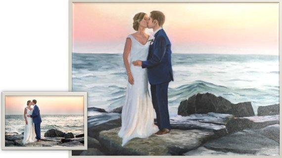 Personalized Oil Painting From Photos, handcraft art on Canvas-Show Case PKR101638-48