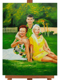 Personalized Oil Painting From Photos, handcraft art on Canvas-Show Case HPM102059-36