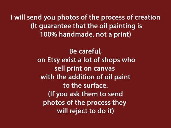 Personalized Oil Painting From Photos, handcraft art on Canvas-Show Case RBI102336-24