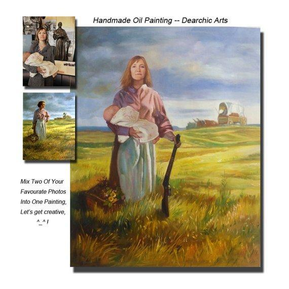 Personalized Oil Painting From Photos, handcraft art on Canvas-Show Case DGL101454-24