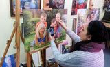 Personalized Oil Painting From Photos, handcraft art on Canvas-Show Case HSJ102386-24