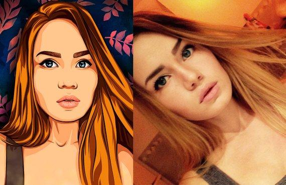 F&S Gift Store Custom Portrait Comic Pop Art Portrait Digital Painting Custom Art Painting From Photo