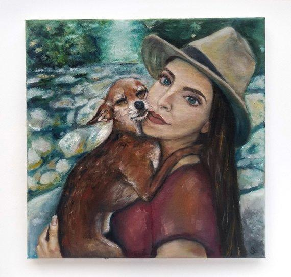 Personalized Oil Painting From Photos, handcraft art on Canvas-Show Case QJK101597-48