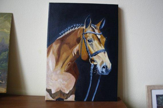 Personalized Oil Painting From Photos, handcraft art on Canvas-Show Case CLE102382-24