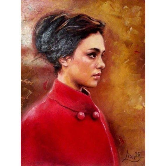 Personalized Oil Painting From Photos, handcraft art on Canvas-Show Case DIO101496-20