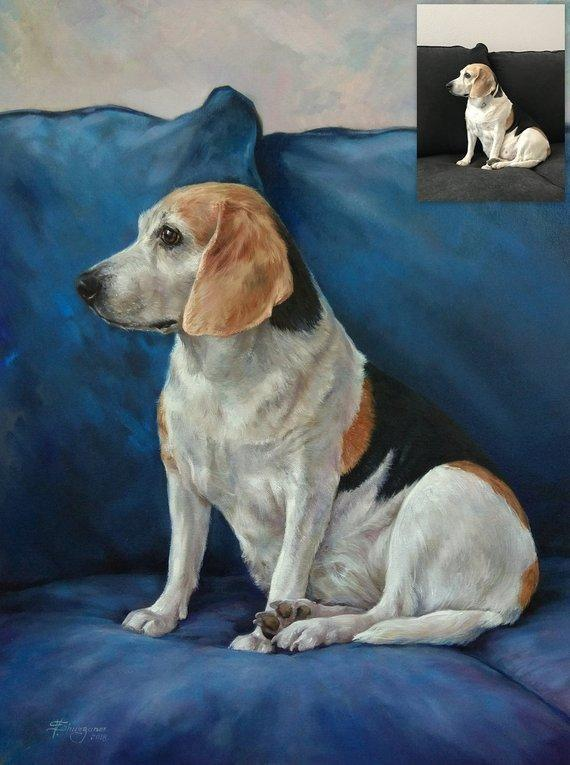 Personalized Oil Painting From Photos, handcraft art on Canvas-Show Case OCN101164-20