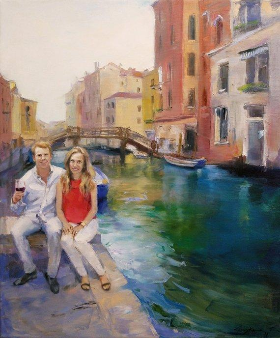 Personalized Oil Painting From Photos, handcraft art on Canvas-Show Case BAJ102191-48
