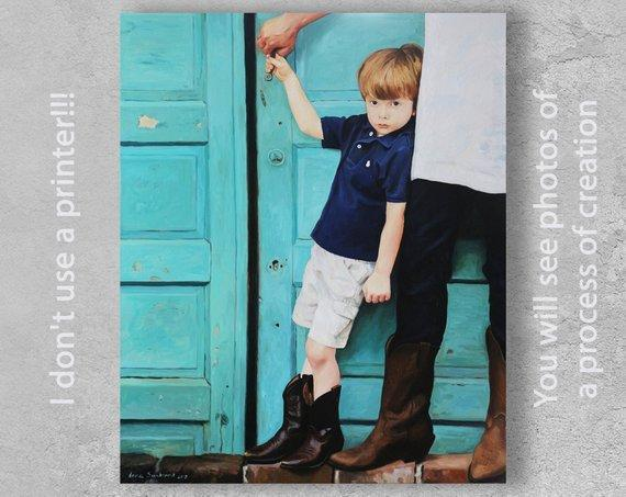 Personalized Oil Painting From Photos, handcraft art on Canvas-Show Case QPK100999-48