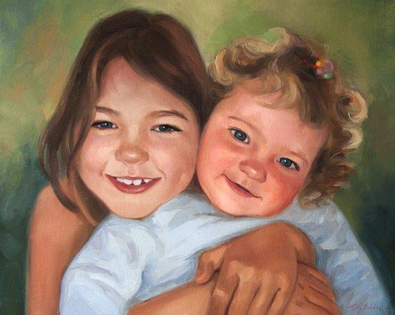 Personalized Oil Painting From Photos, handcraft art on Canvas-Show Case RAL101508-24