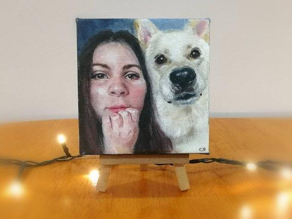 Personalized Oil Painting From Photos, handcraft art on Canvas-Show Case MAF101984-36
