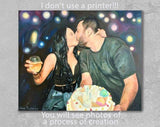 Personalized Oil Painting From Photos, handcraft art on Canvas-Show Case SHG102432-12