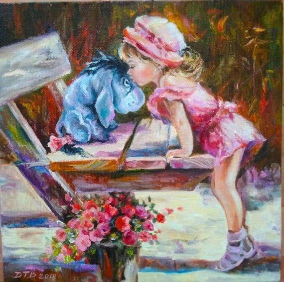 Personalized Oil Painting From Photos, handcraft art on Canvas-Show Case EEJ101812-24