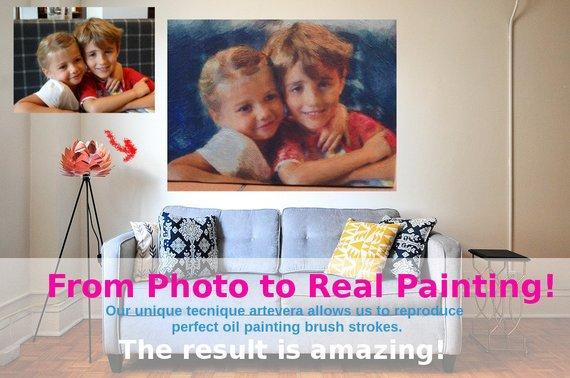 Personalized Oil Painting From Photos, handcraft art on Canvas-Show Case NMD102203-12