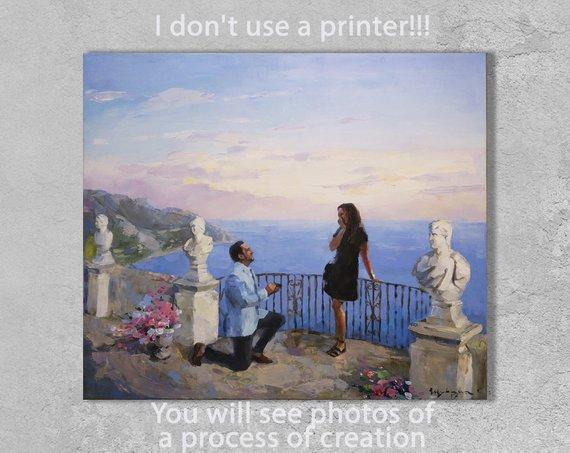 Personalized Oil Painting From Photos, handcraft art on Canvas-Show Case TNS102149-12