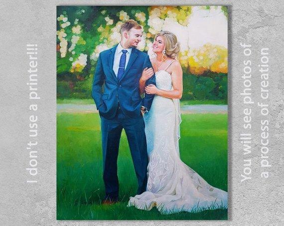 Personalized Oil Painting From Photos, handcraft art on Canvas-Show Case FTK102058-24