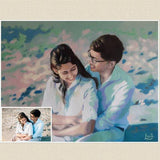 Personalized Oil Painting From Photos, handcraft art on Canvas-Show Case CNK102420-24