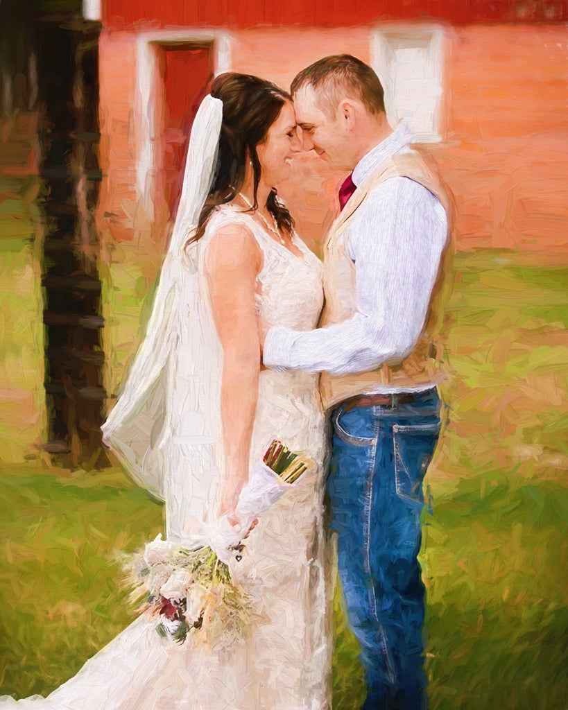 Personalized Oil Painting From Photos, handcraft art on Canvas-Show Case FFS101005-24