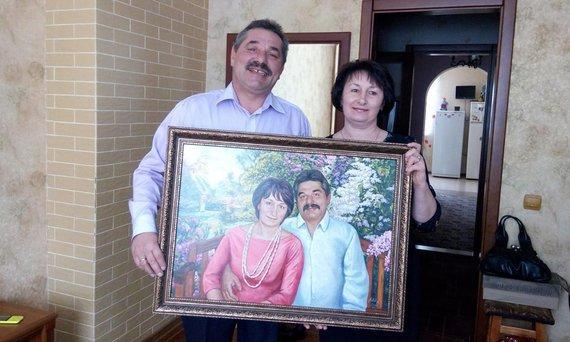 Personalized Oil Painting From Photos, handcraft art on Canvas-Show Case ITK102387-20