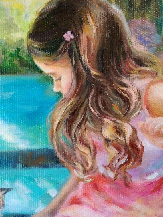 Personalized Oil Painting From Photos, handcraft art on Canvas-Show Case DDI101811-12