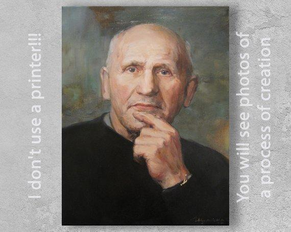 Personalized Oil Painting From Photos, handcraft art on Canvas-Show Case FNK101561-12