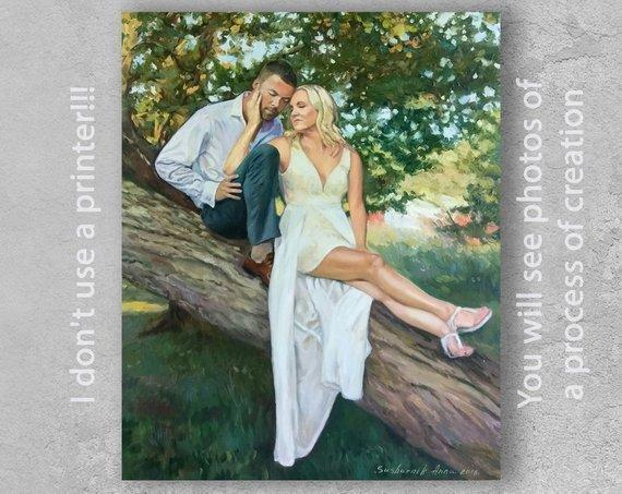 Personalized Oil Painting From Photos, handcraft art on Canvas-Show Case IHS100989-20
