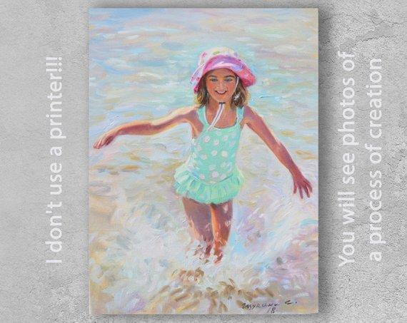 F&S Gift Store Custom oil portrait, Child portrait, Made to order painting, Custom oil painting from a photo, Custom baby portrait, Oil painting custom