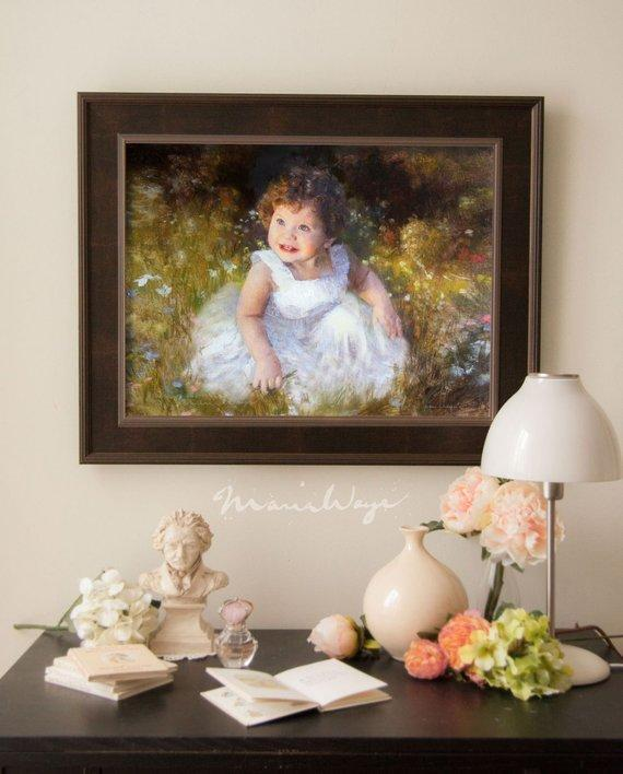 Personalized Oil Painting From Photos, handcraft art on Canvas-Show Case CGN101474-12