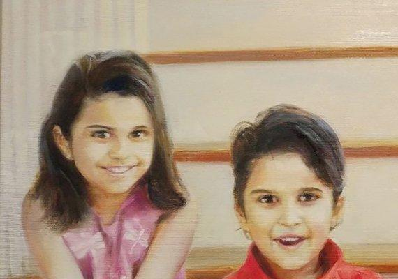 Personalized Oil Painting From Photos, handcraft art on Canvas-Show Case QPK102208-48