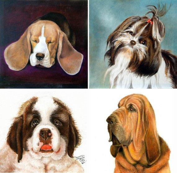 F&S Gift Store 12x16 Photograpy PORTRAIT SERVICE Custom Oil Painting 1 Pet Artwork Dog Cat