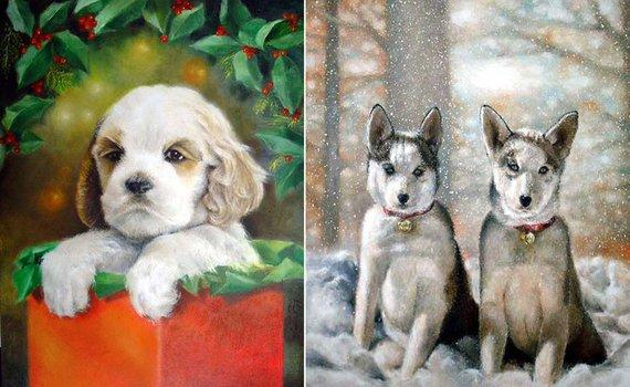 F&S Gift Store 20x24 Photograpy PORTRAIT SERVICE Custom Oil Painting 1 Pet Art Cat Dog