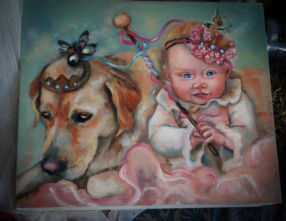 Personalized Oil Painting From Photos, handcraft art on Canvas-Show Case SRA101803-48