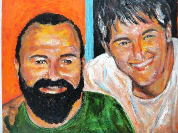 Personalized Oil Painting From Photos, handcraft art on Canvas-Show Case CSN102095-12