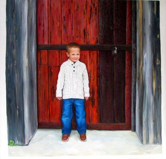 Personalized Oil Painting From Photos, handcraft art on Canvas-Show Case PKD102051-36