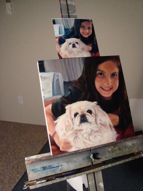 Personalized Oil Painting From Photos, handcraft art on Canvas-Show Case ELA102346-20