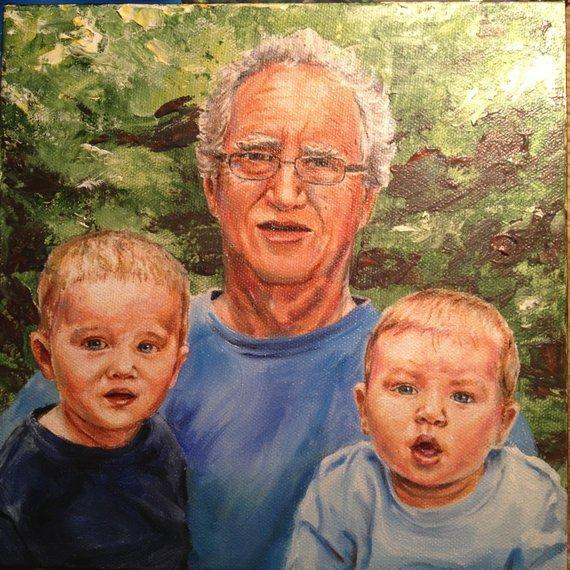 Personalized Oil Painting From Photos, handcraft art on Canvas-Show Case TBK101489-48
