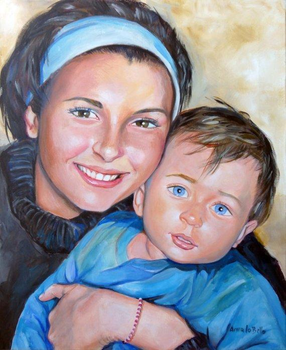 Personalized Oil Painting From Photos, handcraft art on Canvas-Show Case IFS101329-24