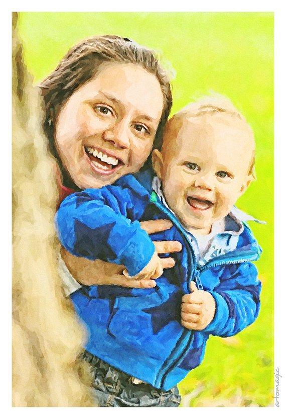 Personalized Oil Painting From Photos, handcraft art on Canvas-Show Case CDE102626-12