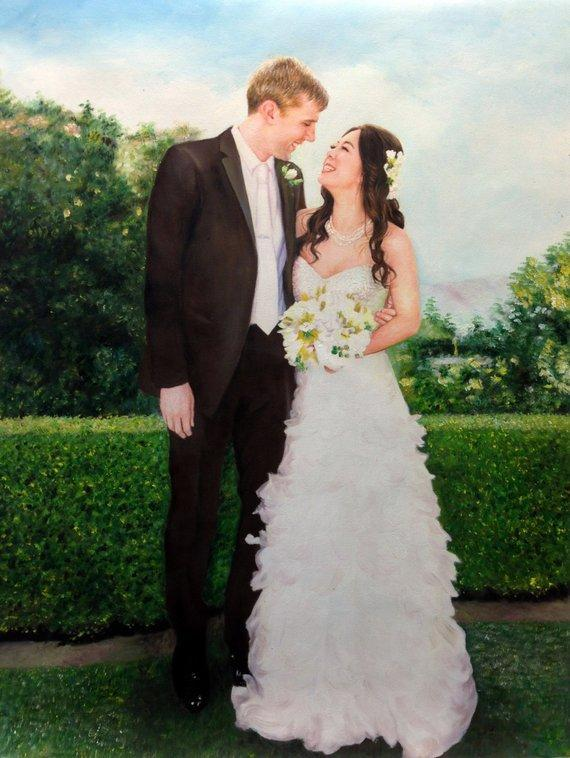 Personalized Oil Painting From Photos, handcraft art on Canvas-Show Case NEJ101632-20