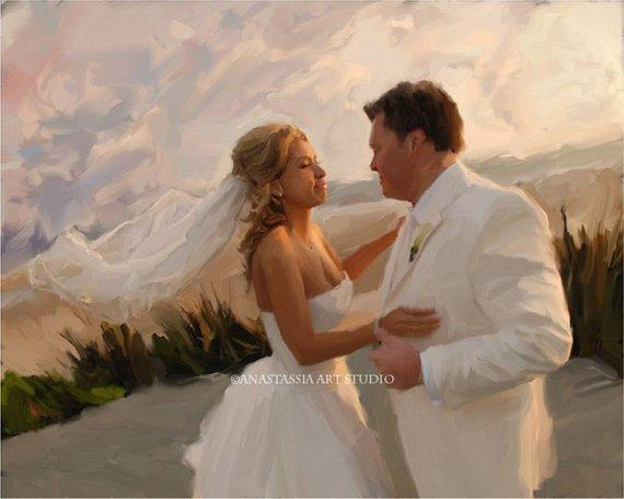 Personalized Oil Painting From Photos, handcraft art on Canvas-Show Case ANI102073-48