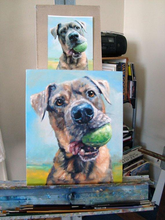 Personalized Oil Painting From Photos, handcraft art on Canvas-Show Case DKO102345-24