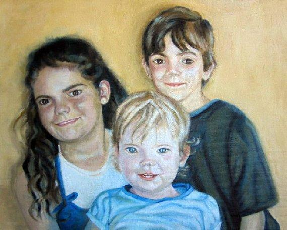 Personalized Oil Painting From Photos, handcraft art on Canvas-Show Case QDK101471-36