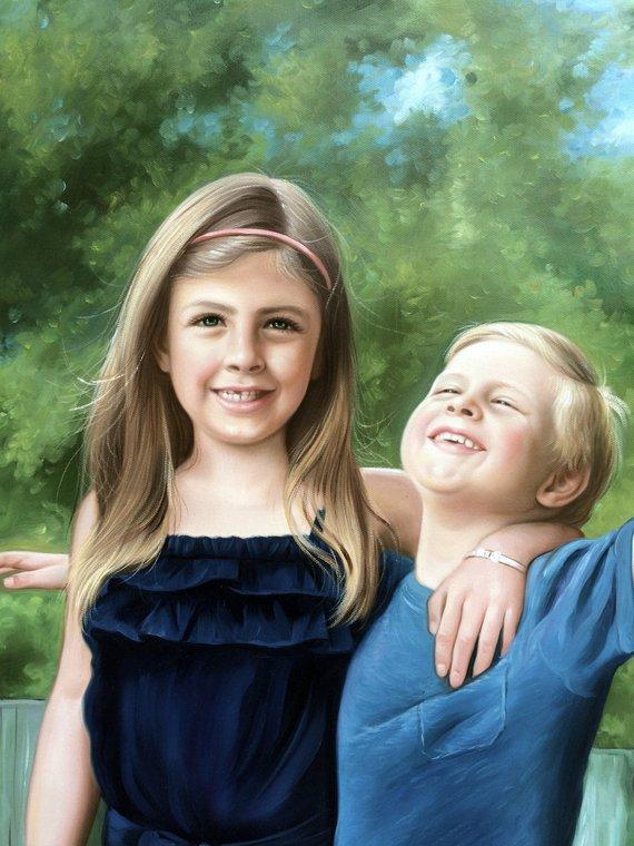 Personalized Oil Painting From Photos, handcraft art on Canvas-Show Case JOO101586-36