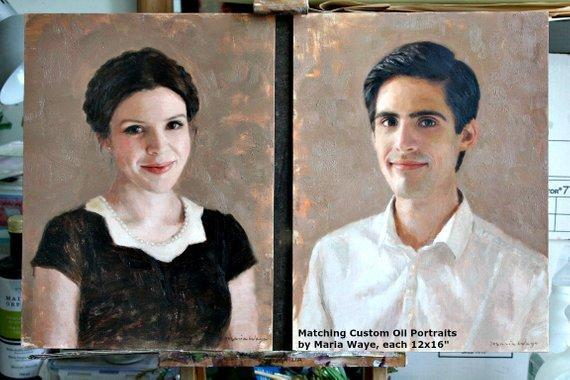 Personalized Oil Painting From Photos, handcraft art on Canvas-Show Case FJS101477-24